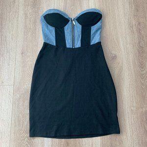 Bebe Strapless Mini Dress